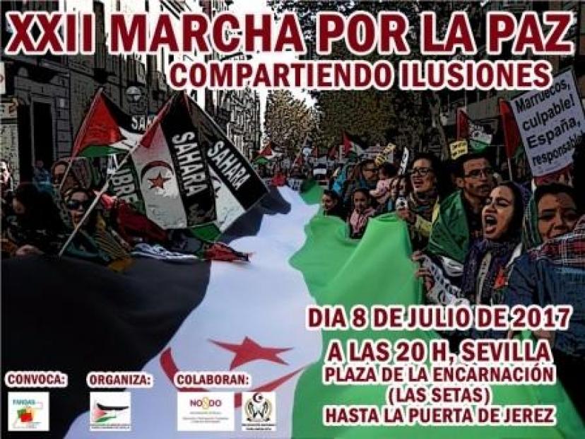Marcha por la Paz en apoyo al Pueblo Saharaui: 8 de julio a las 20,00 h. en Sevilla