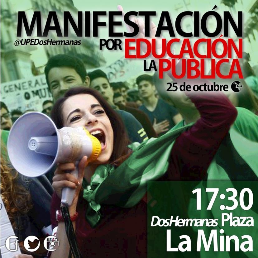 Apoyamos la huelga educativa del 26O