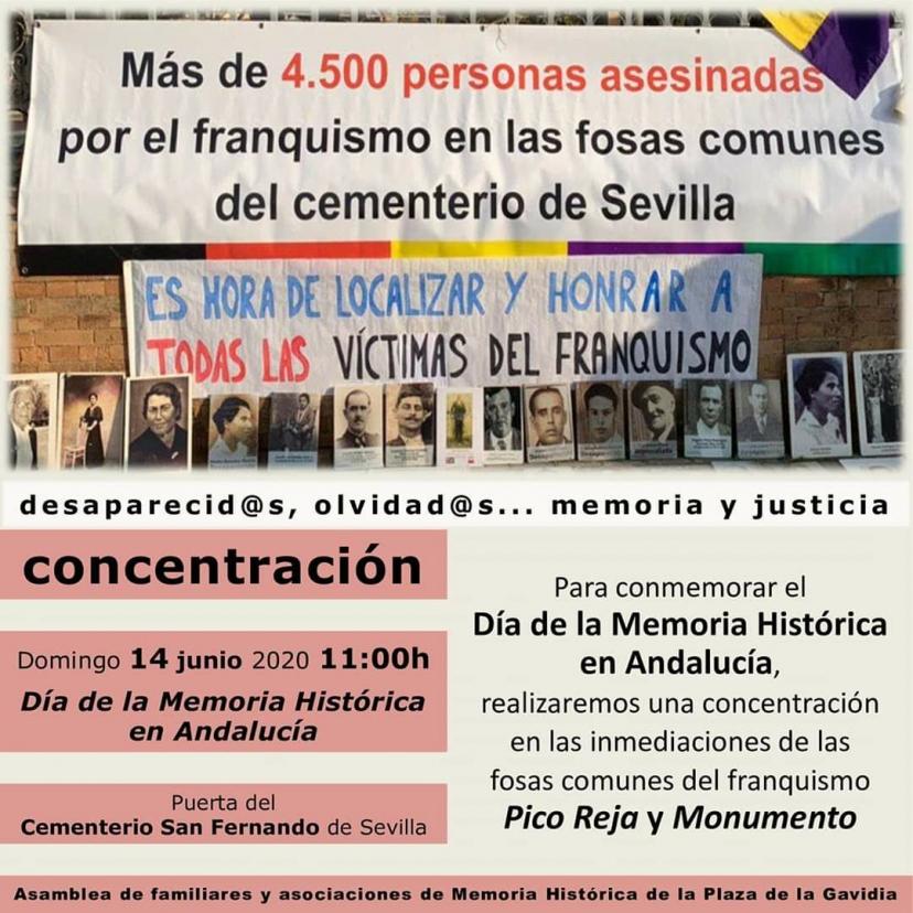 14 de junio: Acto Memorialista en la Fosa Pico Reja de Sevilla