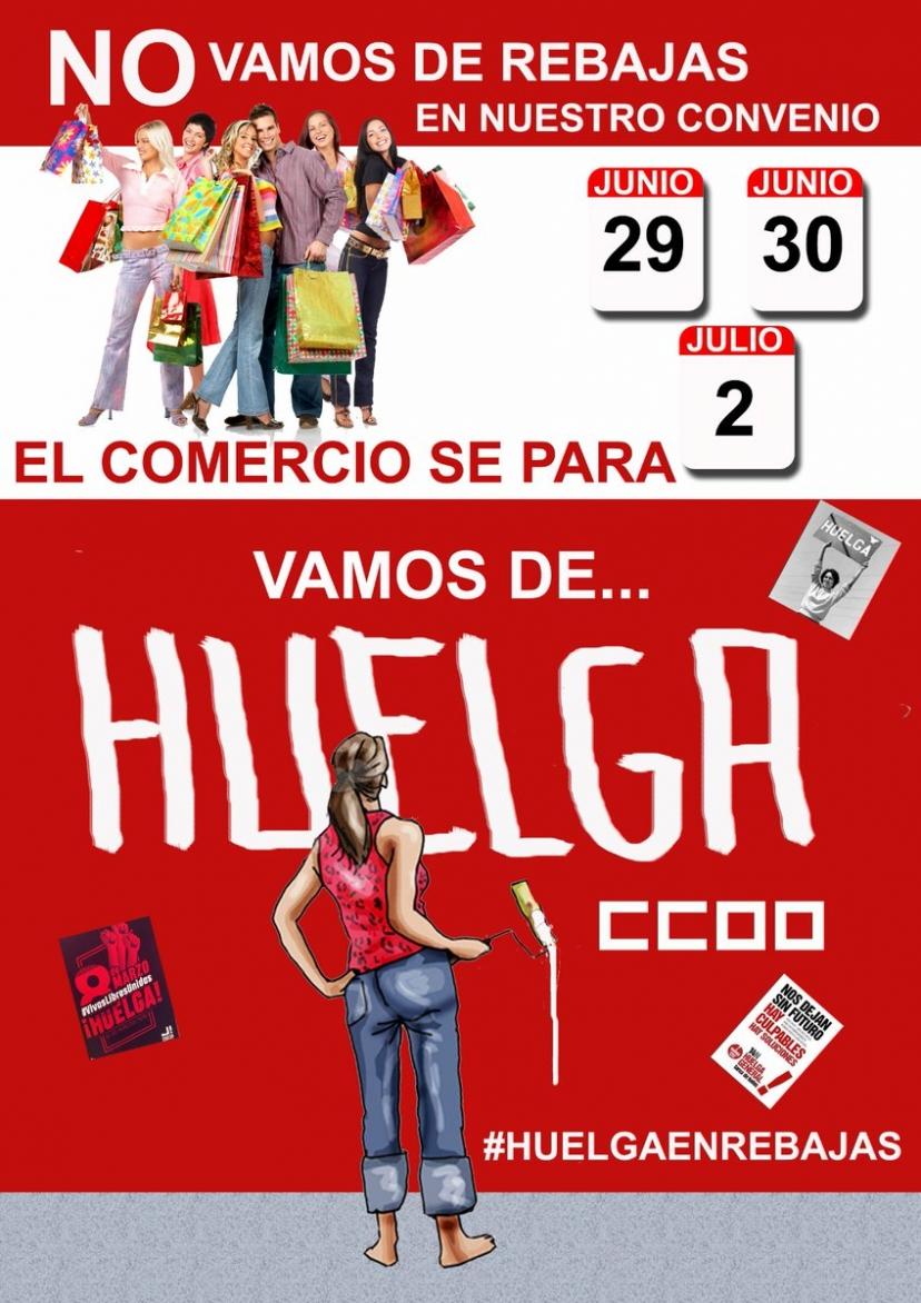 IU Sevilla hace un llamamiento para no acudir a comprar los  primeros días de rebajas y así apoyar la Huelga de los trabajadores del sector del comercio