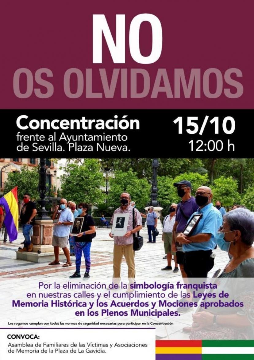 IU Sevilla apoya la nueva concentración memorialista del 15 de octubre