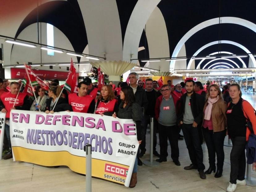 Contra la precariedad en el Aeropuerto de Sevilla
