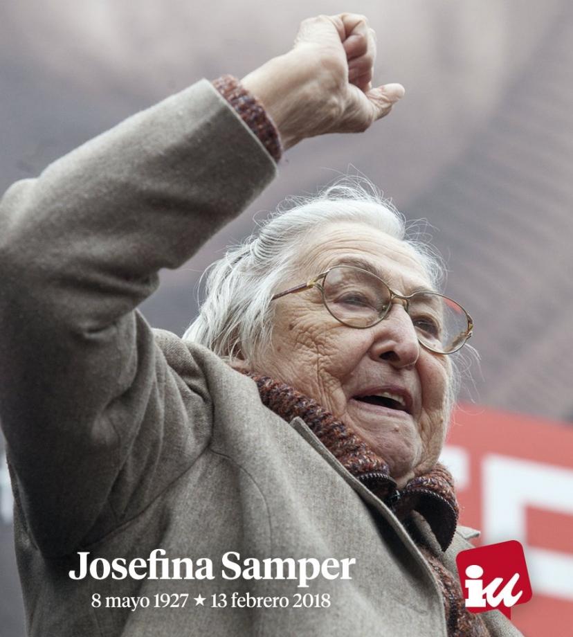 Josefina Samper, mujer luchadora, trabajadora y combativa, ejemplo de compromiso