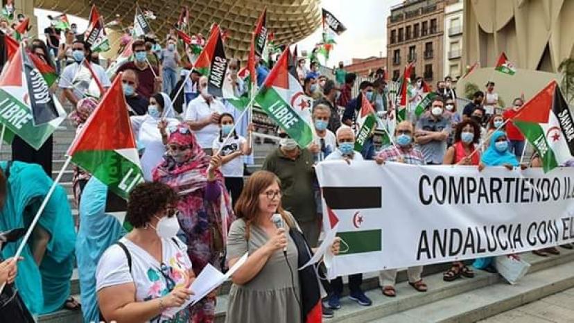 Concentración 'Marcha por la Paz 2020' en Sevilla
