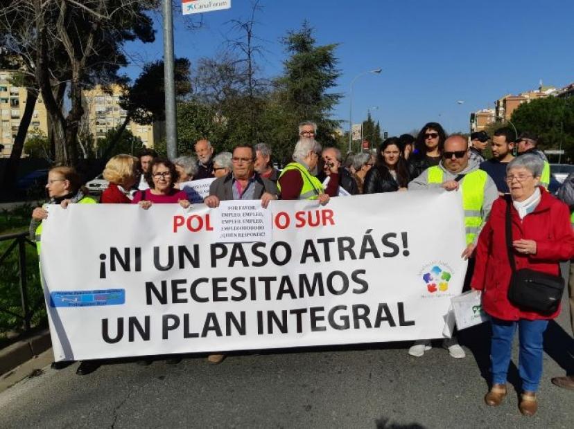 Apoyamos la manifestación convocada por la plataforma del Polígono Sur convocada por el Día de la Justicia Social
