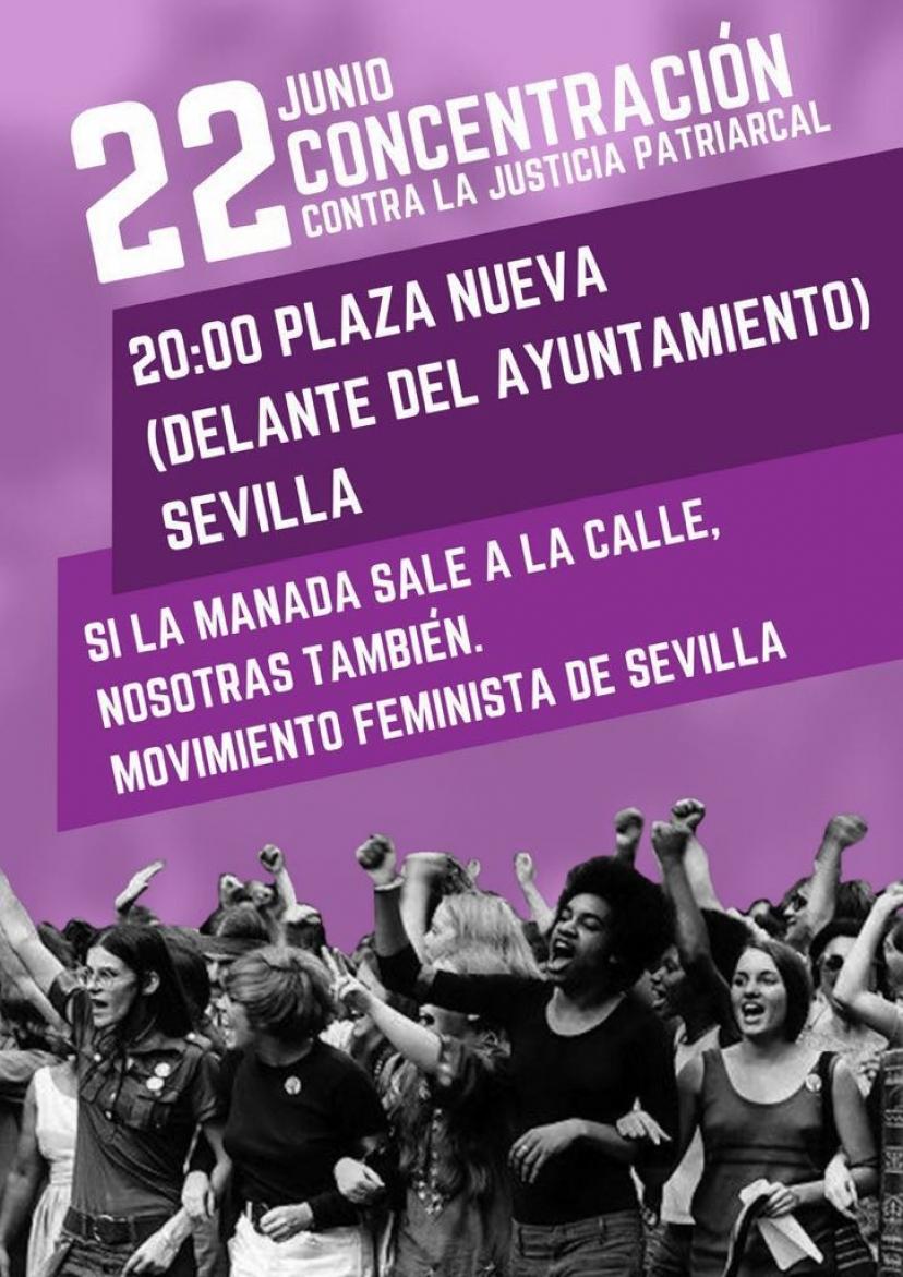 """IU Sevilla hace un llamamiento para asistir a la concentración en rechazo a la puesta en libertad de """"La Manada"""""""