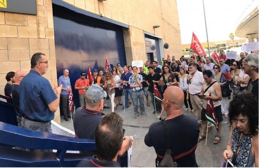 Paro parcial de trabajadores y trabajadoras en AENA
