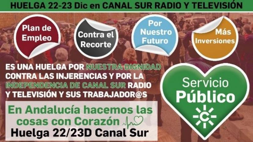 IU Sevilla respalda la huelga convocada en la RTVA los días 22 y 23 de diciembre