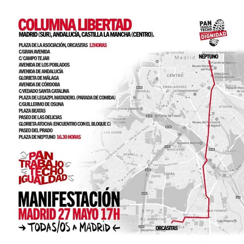 El #27MTomaMadrid con la #ColumnaLibertad