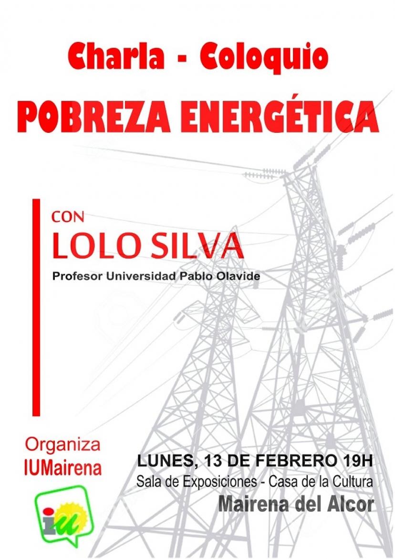 Mairena del Alcor: Charla-Coloquio sobre pobreza energética