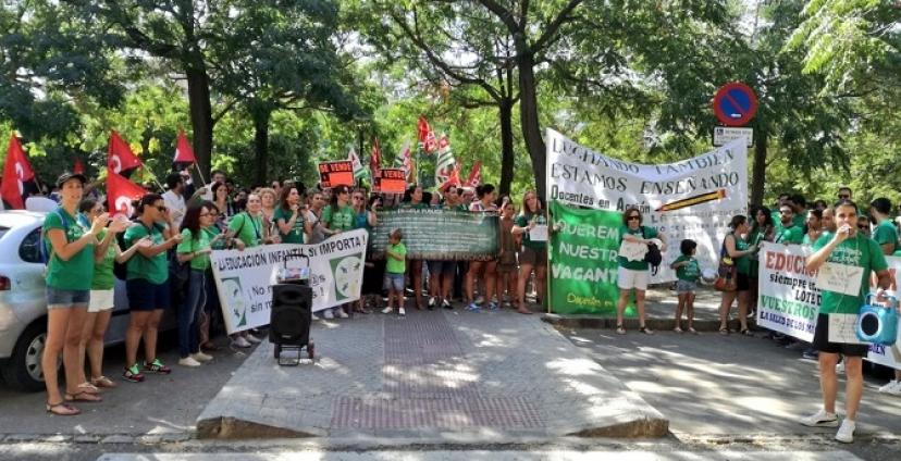 La comunidad educativa vuelve a movilizarse en Sevilla contra los recortes de la Junta