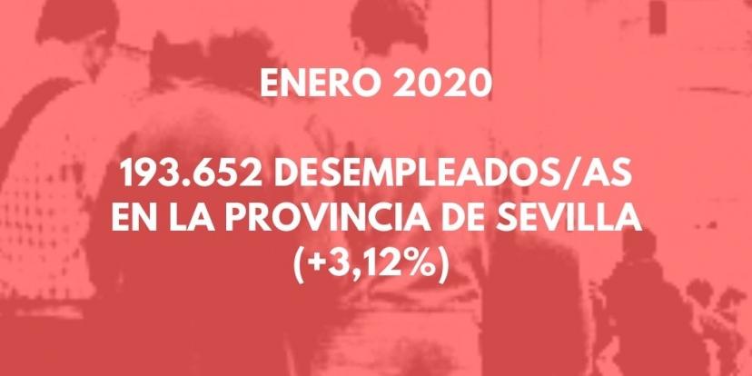 Desempleo Enero 2020: Valoración de la Red de Activistas de IU Sevilla