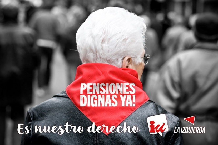 IU Sevilla muestra su apoyo a la manifestación en Defensa de las Pensiones de mañana sábado