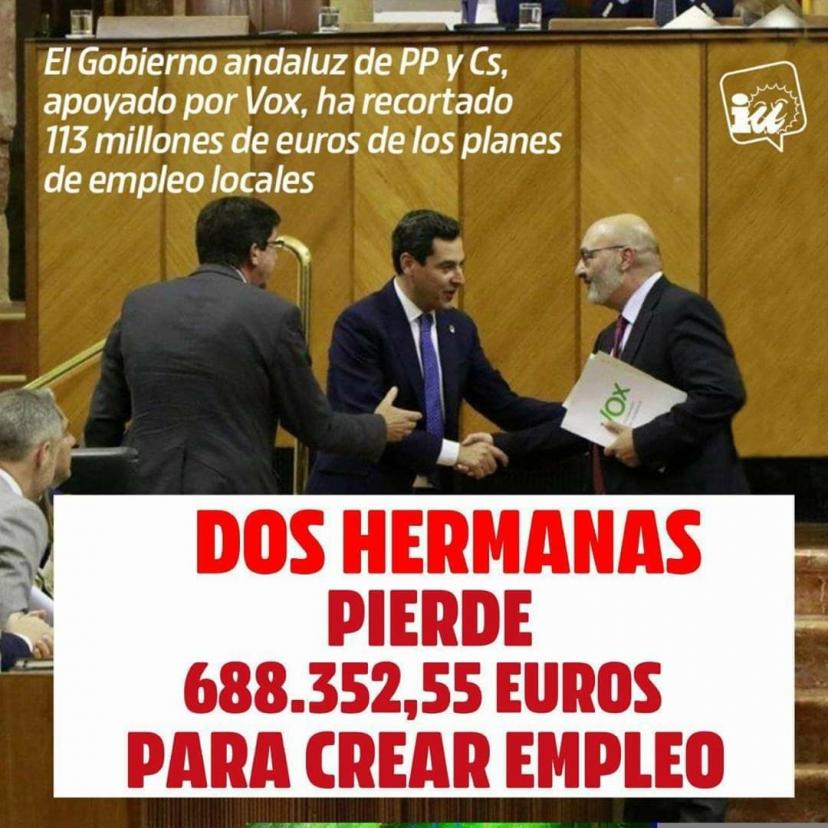 IU denuncia el recorte de casi 700.000€ para Dos Hermanas en el Plan Aire