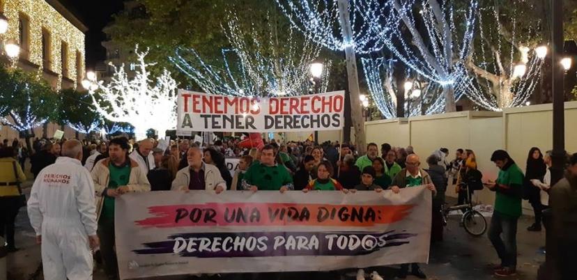 """Manifestación """"Tenemos derecho a tener derechos"""""""