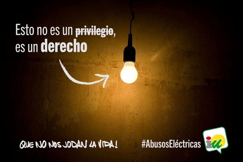 IU solicita a Fiscalía una investigación a las compañías eléctricas por prácticas fraudulentas