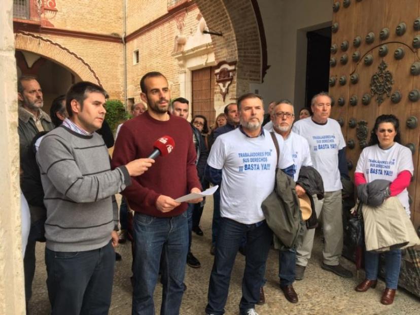 Écija: Miguel Ángel Bustamante presenta una pregunta al Gobierno Central sobre la situación laboral de Aqualia