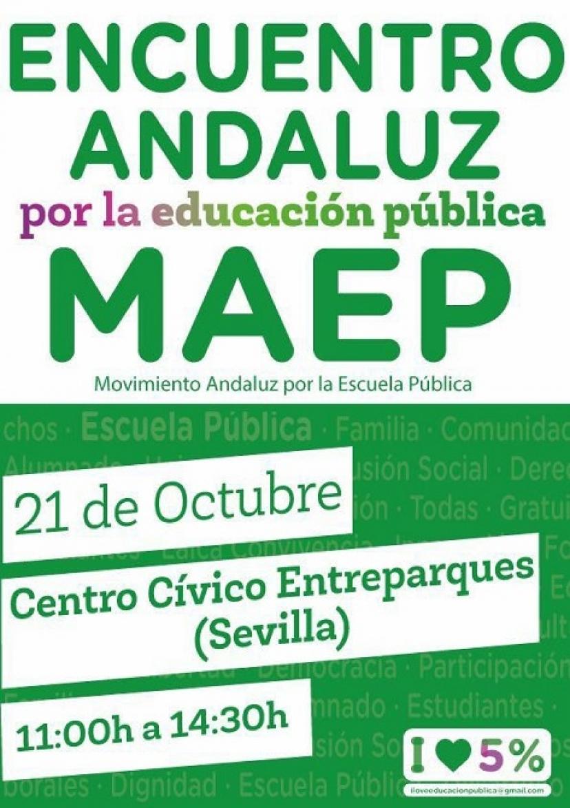 Sábado 21 de octubre: Encuentro del Movimiento Andaluz por la Educación Pública
