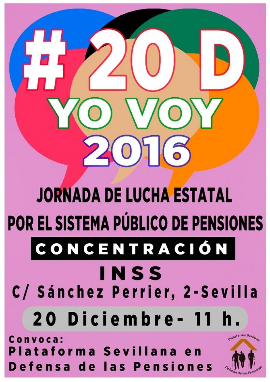 #20DYoVoy: Nos movilizamos en defensa de un sistema público de pensiones digno