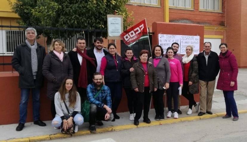 IU Sevilla felicita a los trabajadores y trabajadoras de los comedores escolares por el acuerdo alcanzado con Aramark