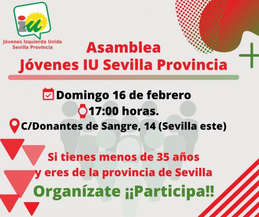 Izquierda Unida convoca a sus jóvenes a organizarse en la provincia de Sevilla