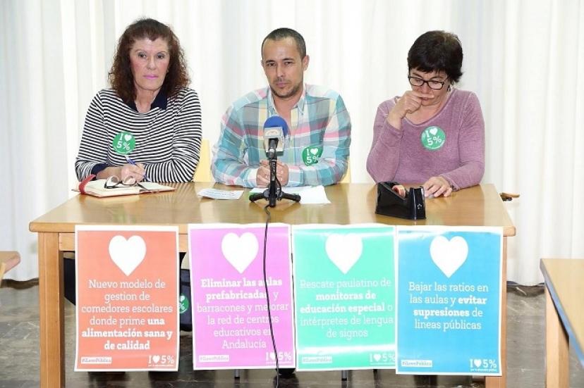 El Ayuntamiento de Los Palacios muestra su apoyo a la Plataforma en Defensa de la Educación Pública