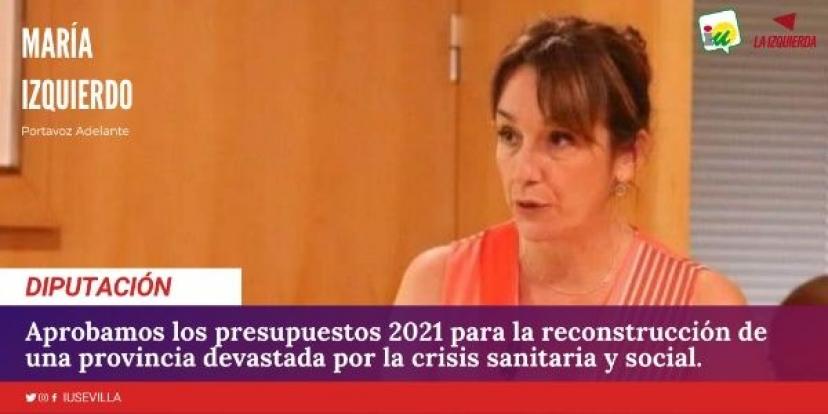 Presupuestos Diputación de Sevilla 2021: Intervención de María Izquierdo