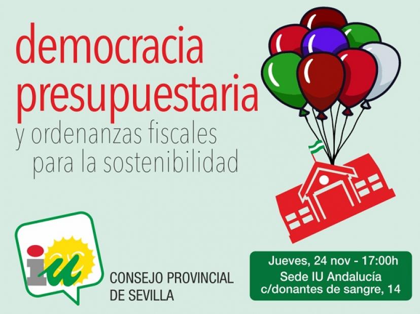 Jornada Democracia Presupuestaria y Ordenanzas Fiscales para la Sostenibilidad