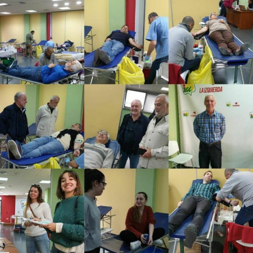 Donación de Sangre convocada por la Red de Activistas de IU Sevilla: Éxito absoluto de la solidaridad