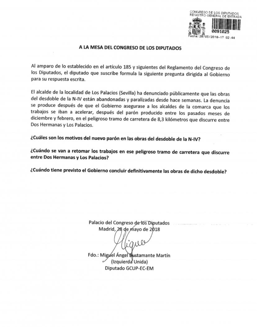 IU lleva al Congreso el abandono de las obras de desdoble de la Nacional IV.