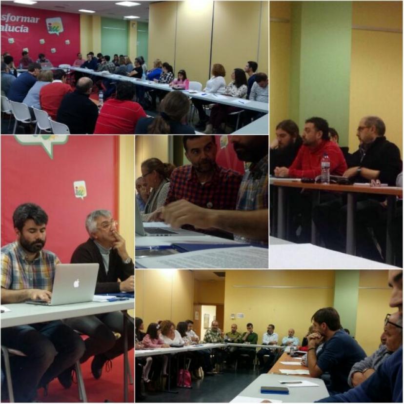 Reunión del Área Andaluza de Educación de IU