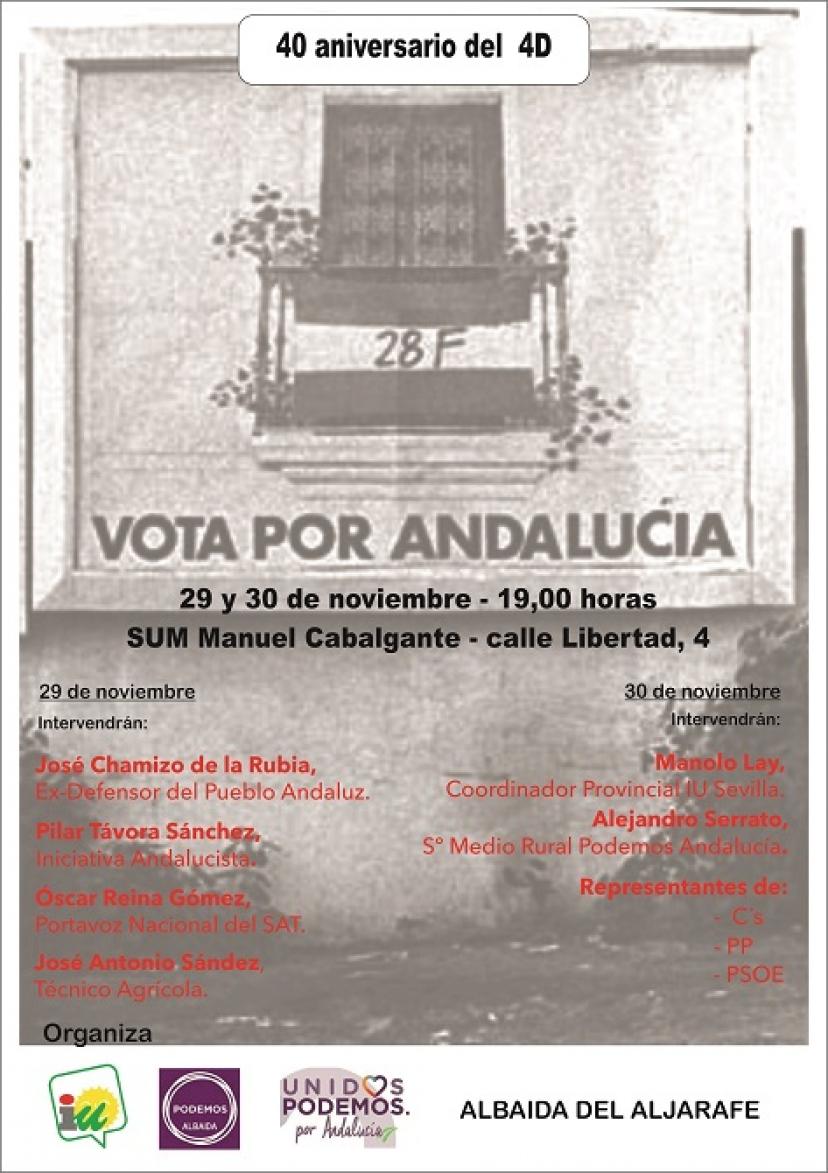 Celebración del 4D en Albaida del Aljarafe: 29 y 30 de noviembre
