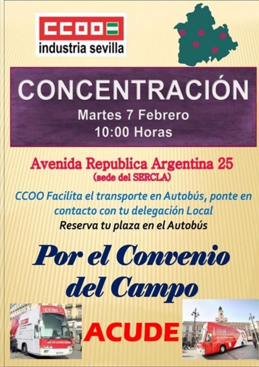 Apoyamos la movilización de los trabajadores y trabajadoras del campo en Sevilla