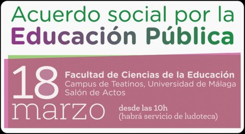 18M: Encuentro del Movimiento Andaluz por la Educación Pública