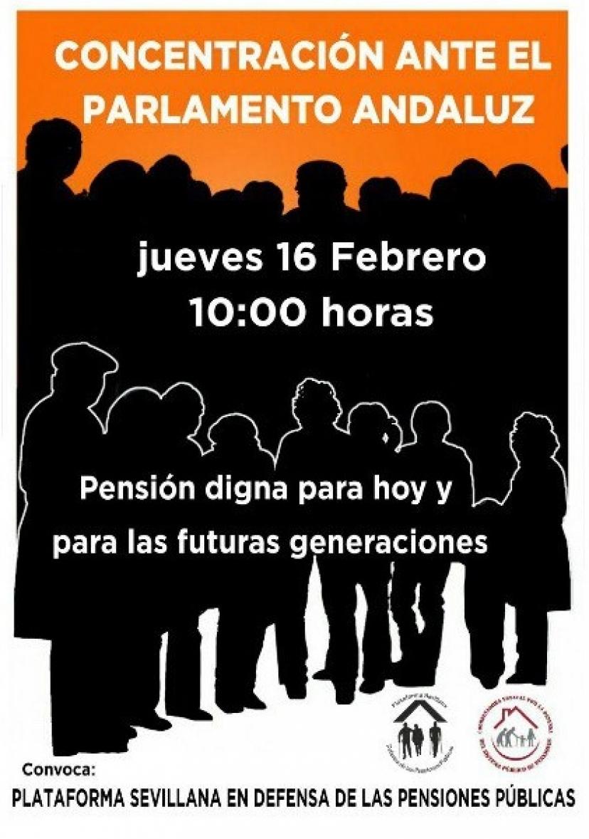 En Defensa de las Pensiones Públicas: Concentración ante el Parlamento de Andalucía