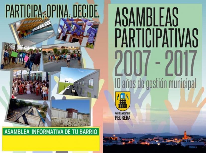 Pedrera celebra sus Asambleas Participativas del 3 al 7 de julio