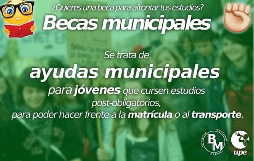 Dos Hermanas: La UPE inicia una campaña para pedir becas municipales