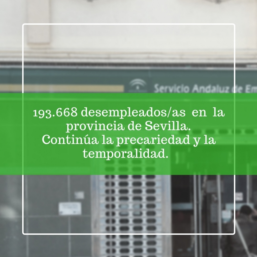 IU Sevilla denuncia que las cifras de empleos creados no traen consigo mejoras laborales; continúa la precariedad y la temporalidad.