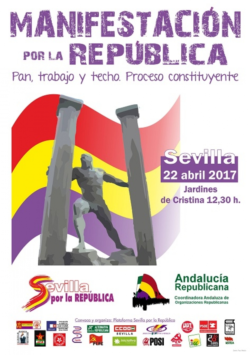 Andalucía Republicana convoca manifestaciones en toda Andalucía para el 22 de abril